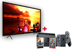 "Samsung 55"" 4K Smart TV  & Nintendo Switch Super Mario Bundle - Click for more details"