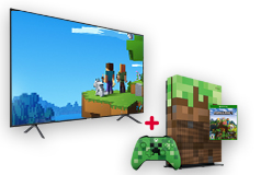 "Samsung 55"" 4K Smart TV  & Xbox One S 1TB Minecraft Limited Edition Bundle - Click for more details"