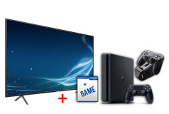 "Samsung 50"" 4K Smart TV  & PlayStation 4 Slim 1TB  Bundle - Click for more details"