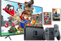 "Samsung 65"" 4K Smart TV + Nintendo Switch Super Mario Bundle - Click for more details"