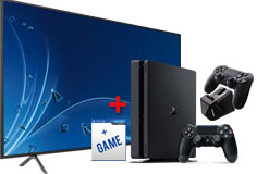 "Samsung 65"" 4K Smart TV + PlayStation 4 Slim Bundle - Click for more details"