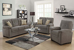 Fairbairn Casual Livingroom Set Includes: Sofa, Loveseat & Chair in Chenille by Coaster