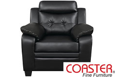 Finley Ultra Plush   Leatherette Club Chair  by Coaster - Click for more details