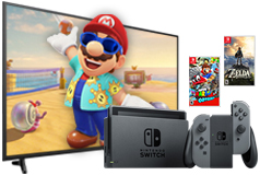 "Samsung 55"" 4K UHD Smart TV & Nintendo Switch Super Mario Bundle - Click for more details"