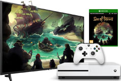 "Samsung 55"" 4K UHD Smart TV & Xbox Sea of Thieves  Bundle - Click for more details"