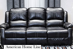 Lorraine Bel-Aire Deluxe Reclining Sofa in Ebony - Click for more details