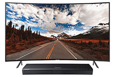 "Samsung 55"" 4K Curved TV  NU7300 2018 Model <br /> with FREE Samsung 4K Blu-ray Player - Click for more details"