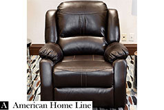 Lorraine Bel-Aire Deluxe  Reclining Club Chair  in Mocha - Click for more details