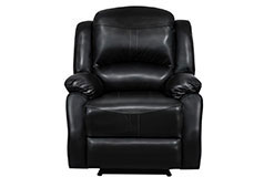 Lorraine Recliner Chair  in Black Bonded Leather - Click for more details
