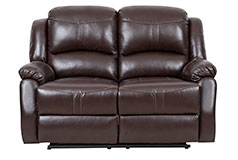 Lorraine Recliner Loveseat  in Brown Bonded Leather