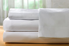 Spirit Premium Bamboo Queen Bed sheets   in White - Click for more details