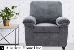 London Luxury Edition  Chair in Gray Chenille - Click for more details