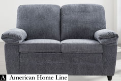 London Luxury Edition Loveseat in gray chenille  - Click for more details