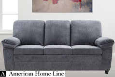 London Luxury Edition Sofa in gray chenille  - Click for more details