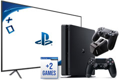 "Samsung 58"" 4K Smart TV  & PlayStation 4 Slim Bundle  - Click for more details"