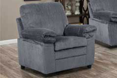 London Chair in Grey Chenille - Click for more details