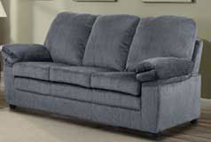 London Sofa in Grey Chenille - Click for more details