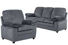 London Living Room Set in Gray Chenille  Includes: Sofa & Chair - Click for more details