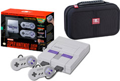 Nintendo Super NES Classic Edition & Nintendo Deluxe Travel Case - Click for more details
