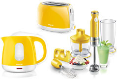 Kitchen Essentials - Sencor Toaster, Kettle and Hand Blender Bundle in Yellow  - Click for more details