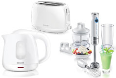 Kitchen Essentials - Sencor Toaster, Kettle and Hand Blender Bundle in White - Click for more details