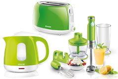 Kitchen Essentials - Sencor Toaster, Kettle and Hand Blender Bundle in Green - Click for more details