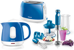 Kitchen Essentials - Sencor Toaster, Kettle and Hand Blender Bundle in Blue - Click for more details