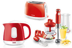 Kitchen Essentials - Sencor Toaster, Kettle and Hand Blender Bundle in Red - Click for more details