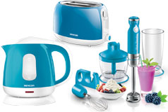 Kitchen Essentials - Sencor Toaster, Kettle and Hand Blender Bundle in Turquoise - Click for more details