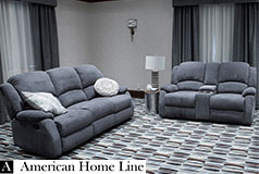 Crawford Luxury Recliner Set in Gray  Includes: Sofa, Loveseat  - Click for more details