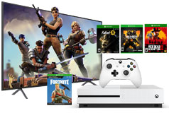 "Samsung 58"" 4K UHD LED Smart TV NU7100 2018 Model & Xbox One S 1TB Bundle  - Click for more details"