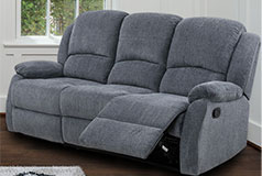 Crawford Recliner Sofa in Gray - Click for more details