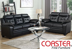 Finley Living Room Set Includes: Sofa, Loveseat Leatherette by Coaster - Click for more details