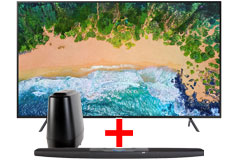"Samsung 55"" HDR LED 4K Smart TV & Polk Command Bar Sound Bar System with Alexa Built-in Bundle - Click for more details"
