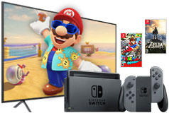 "Samsung 55"" 4K LED Smart TV & Nintendo Switch Super Mario Bundle"