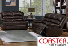 Denison Genuine Leather Reclining Living Room Set: Sofa, Love Seat - Click for more details