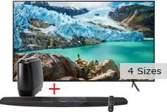 "Samsung 50"" 4K UHD RU7100 Smart TV & Polk Command Sound Bar Bundle  - Click for more details"