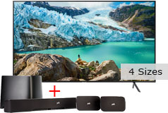 "Samsung 50"" Smart 4K UHD RU7100 TV & Polk True Surround Sound System Bundle  - Click for more details"
