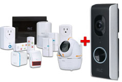 ALC Security System with Doorbell, Pan&Tilt Cam, Wifi Repeater Bundle
