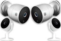 Smart Home Bundle of 4 Aluratek Eco4Life 2 Outdoor & 2 Indoor Cameras - Click for more details