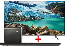 "Samsung 55"" Smart 4K TV & Polk Omni Home Theater Sound Bar System Bundle - Click for more details"