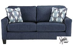 Ashley Burgos Sofa in Navy - Click for more details