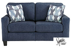 Ashley Burgos Love seat in Navy - Click for more details