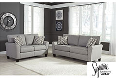 Ashley Strehela Sofa and Loveseat in Silver - Click for more details