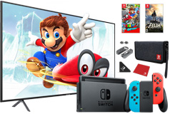 "Samsung 58"" UHD HDR LED 4K Smart TV & Nintendo Switch Bundle - Click for more details"