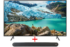 "Samsung 75"" Smart 4K UHD RU7100 TV & Polk Audio - Signa Solo Soundbar - Click for more details"