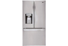LG - 27.9 French Door Smart Wi-Fi Enabled Refrigerator Stainless steel