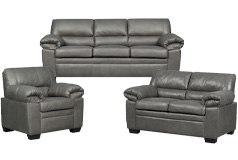 Jamieson Sofa Set Collection in Pewter - Click for more details