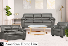 Jamieson Luxury Sofa Set Collection in Pewter, Includes: Sofa, Loveseat, Chair - Click for more details