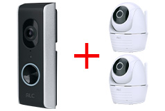 ALC WiFi Video Doorbell & 2 Full HD Pan/Tilt WiFi Cameras Bundle - Click for more details